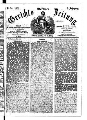 Berliner Gerichts-Zeitung vom 19.03.1861
