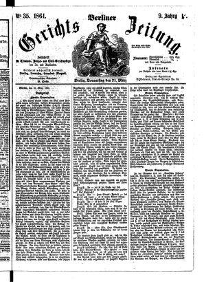 Berliner Gerichts-Zeitung vom 21.03.1861