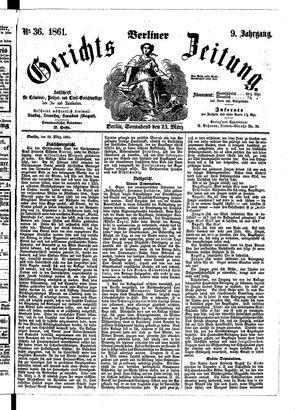 Berliner Gerichts-Zeitung vom 23.03.1861