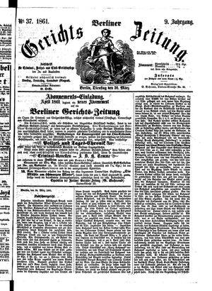 Berliner Gerichts-Zeitung vom 26.03.1861
