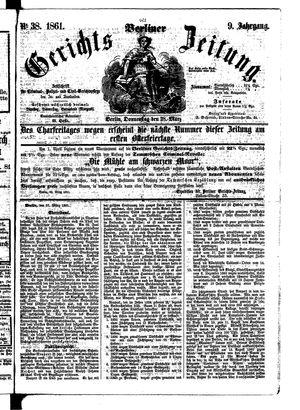 Berliner Gerichts-Zeitung vom 28.03.1861