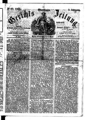 Berliner Gerichts-Zeitung vom 04.04.1861