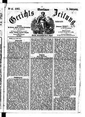 Berliner Gerichts-Zeitung vom 06.04.1861