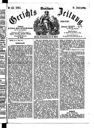Berliner Gerichts-Zeitung vom 11.04.1861