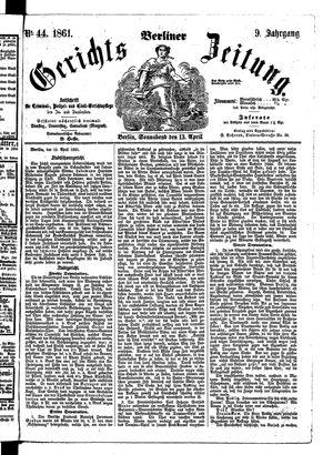 Berliner Gerichts-Zeitung vom 13.04.1861