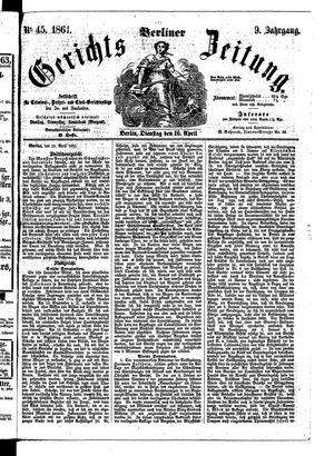 Berliner Gerichts-Zeitung vom 16.04.1861