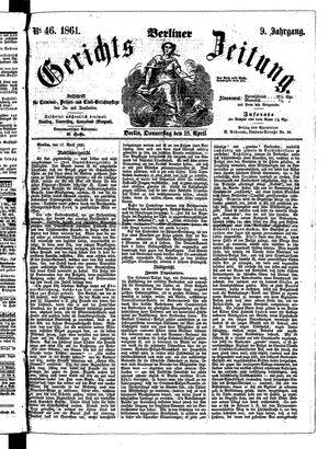 Berliner Gerichts-Zeitung vom 18.04.1861