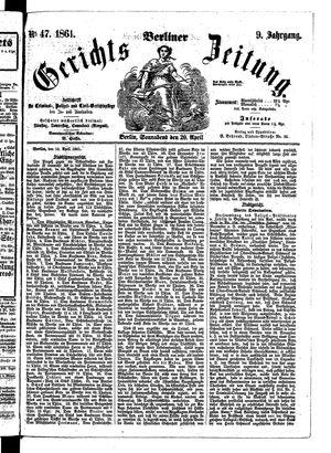 Berliner Gerichts-Zeitung vom 20.04.1861