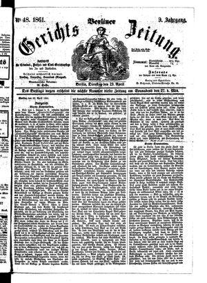 Berliner Gerichts-Zeitung vom 23.04.1861