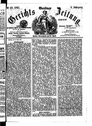 Berliner Gerichts-Zeitung vom 27.04.1861
