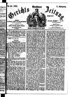 Berliner Gerichts-Zeitung vom 30.04.1861