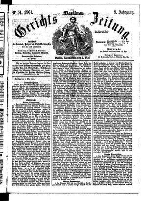 Berliner Gerichts-Zeitung vom 02.05.1861