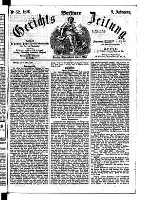 Berliner Gerichts-Zeitung vom 04.05.1861