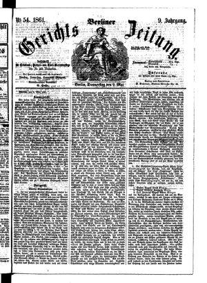 Berliner Gerichts-Zeitung vom 09.05.1861