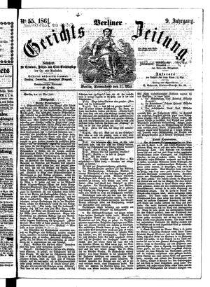Berliner Gerichts-Zeitung vom 11.05.1861