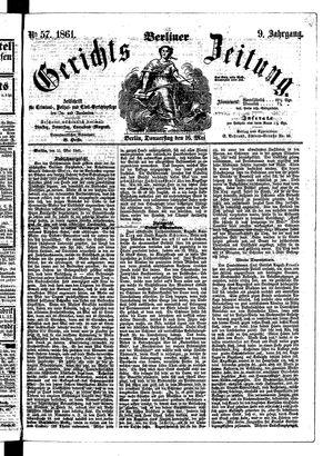 Berliner Gerichts-Zeitung vom 16.05.1861