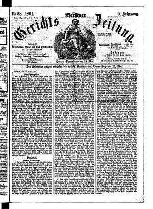 Berliner Gerichts-Zeitung on May 18, 1861
