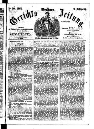Berliner Gerichts-Zeitung vom 25.05.1861