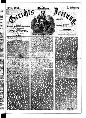 Berliner Gerichts-Zeitung vom 28.05.1861