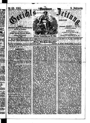 Berliner Gerichts-Zeitung vom 30.05.1861