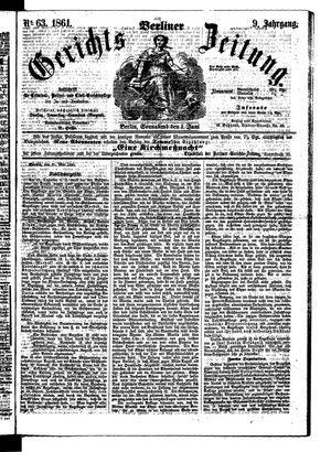 Berliner Gerichts-Zeitung vom 01.06.1861