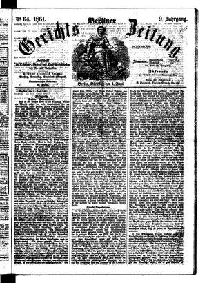 Berliner Gerichts-Zeitung vom 04.06.1861