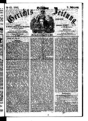 Berliner Gerichts-Zeitung vom 06.06.1861