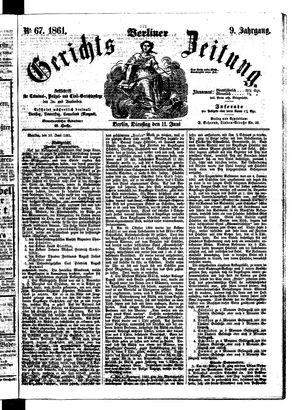 Berliner Gerichts-Zeitung vom 11.06.1861