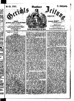 Berliner Gerichts-Zeitung vom 13.06.1861