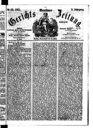 Berliner Gerichts-Zeitung vom 15.06.1861