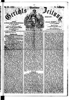 Berliner Gerichts-Zeitung vom 18.06.1861