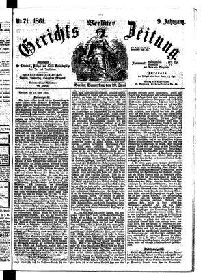 Berliner Gerichts-Zeitung on Jun 20, 1861