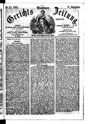 Berliner Gerichts-Zeitung on Jun 22, 1861