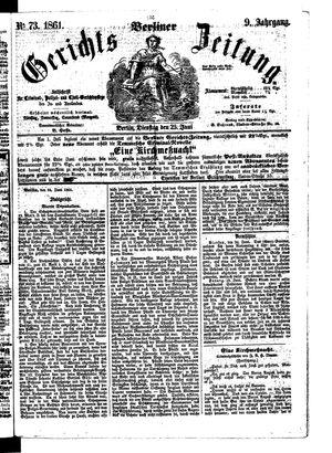 Berliner Gerichts-Zeitung vom 25.06.1861