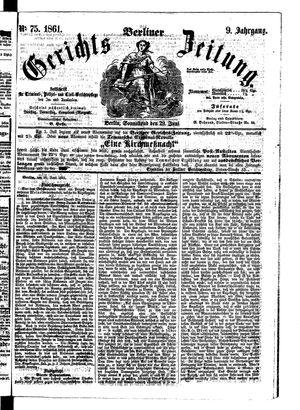 Berliner Gerichts-Zeitung vom 29.06.1861
