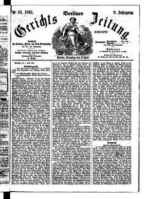 Berliner Gerichts-Zeitung vom 02.07.1861