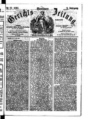 Berliner Gerichts-Zeitung vom 04.07.1861