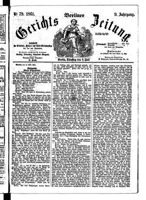 Berliner Gerichts-Zeitung vom 09.07.1861