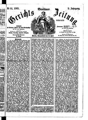 Berliner Gerichts-Zeitung vom 13.07.1861