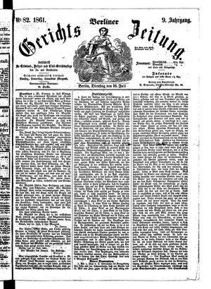 Berliner Gerichts-Zeitung on Jul 16, 1861