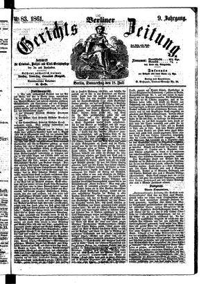 Berliner Gerichts-Zeitung vom 18.07.1861