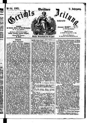 Berliner Gerichts-Zeitung vom 20.07.1861