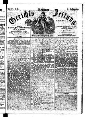 Berliner Gerichts-Zeitung vom 25.07.1861
