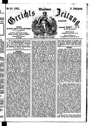 Berliner Gerichts-Zeitung vom 30.07.1861