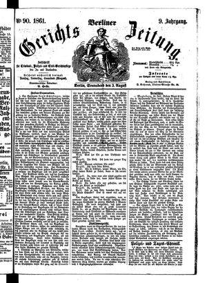 Berliner Gerichts-Zeitung vom 03.08.1861