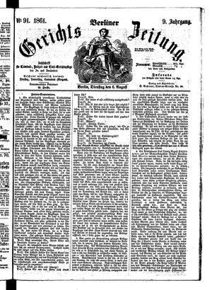 Berliner Gerichts-Zeitung vom 06.08.1861