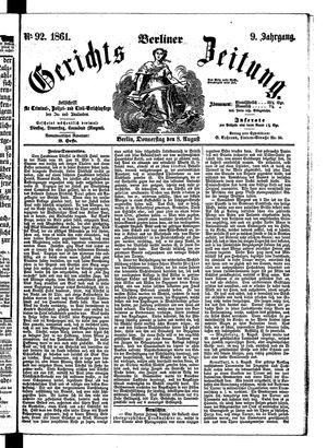 Berliner Gerichts-Zeitung vom 08.08.1861