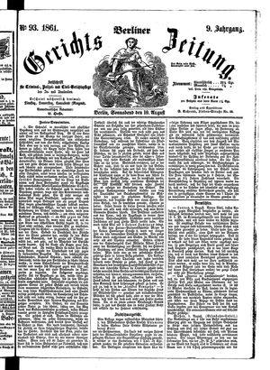 Berliner Gerichts-Zeitung vom 10.08.1861