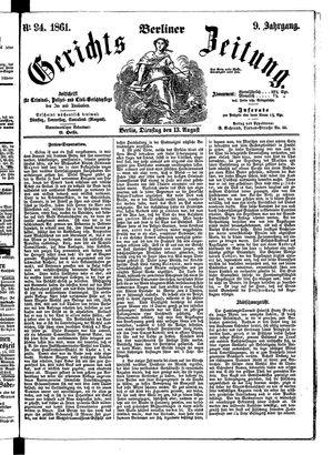 Berliner Gerichts-Zeitung vom 13.08.1861