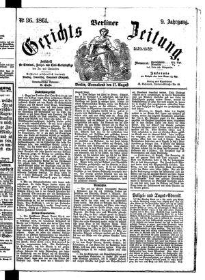 Berliner Gerichts-Zeitung vom 17.08.1861